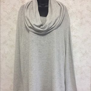 Ladies New Directions Curvy Sweater Gray Silver 2X